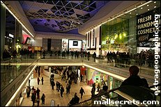 Inside Westfield London shopping centre