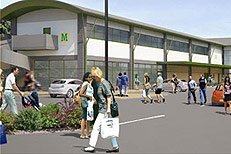 Connah's Quay shopping centre - artist's impression