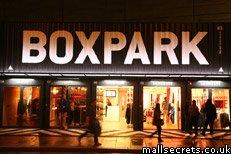 Boxpark shopping centre, Shoreditch, London
