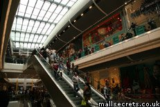 Inside Westfield Stratford City shopping centre