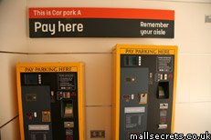 Car park payment machine, Westfield Stratford City