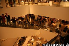 Inside Westfield Stratford City shopping mall