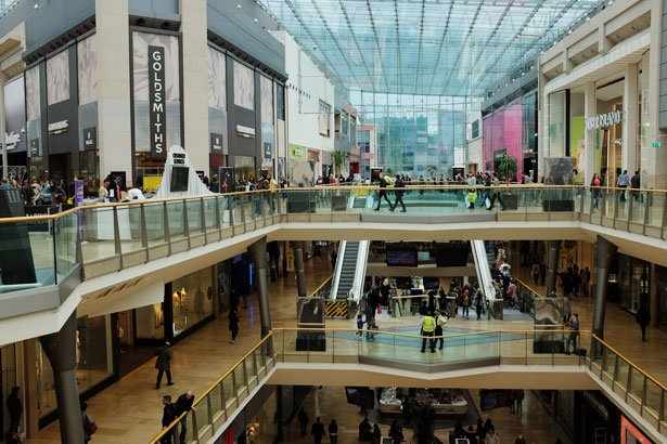 Inside the Bullring shopping centre