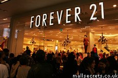 Forever 21 at Westfield Stratford City shopping centre