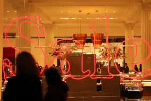Selfridge shop window, Oxford Street, London
