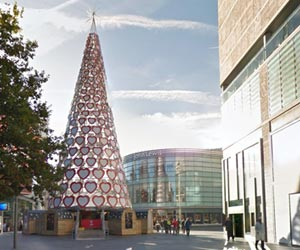 Christmas tree at Liverpool One